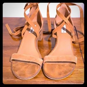 Suede sandals by Steve Madden